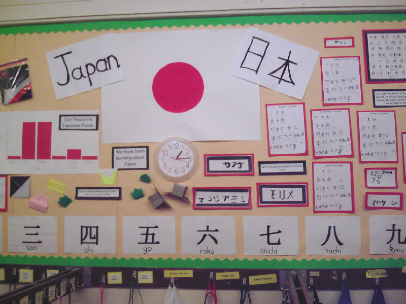 Japanese Classroom Decor : A sense of place japan classroom display photo