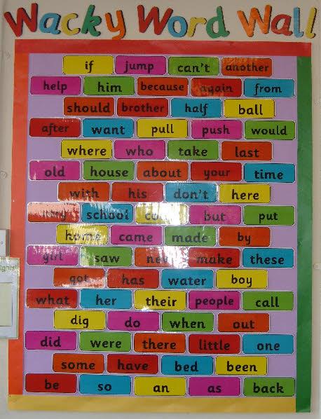 Classroom Word Wall Ideas ~ Word wall classroom display photo gallery sparklebox