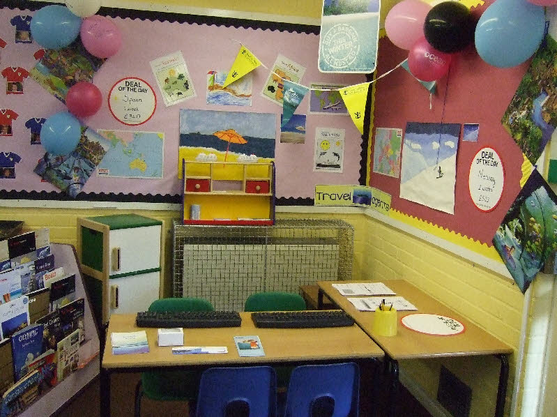 Travel Agents Role Play Area Classroom Display Photo