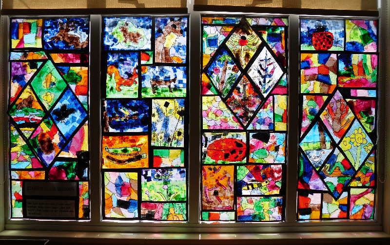 Stained Glass Window Classroom Display Photo Photo