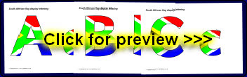 south africa flag display lettering sb8247 sparklebox flags cut out display lettering sparklebox 328