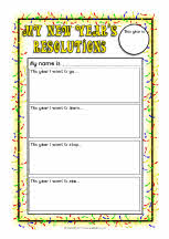 New Year S Resolution Writing Printable