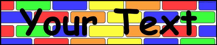 Editable brick wall display banner templates (SB7220) - SparkleBox