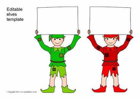 Editable elves template (SB7293) - SparkleBox