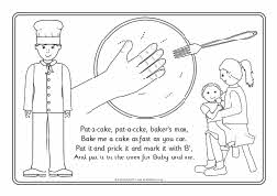 pat a cake coloring pages - photo#5