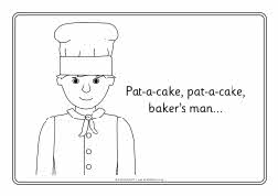 pat a cake coloring pages - photo#12