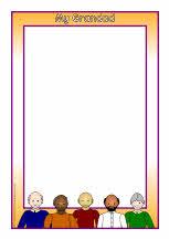 My Grandparents A4 page borders (SB7432) - SparkleBox