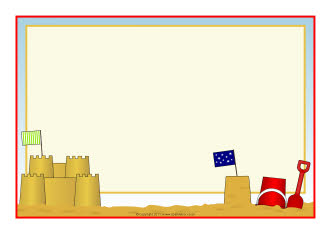 Seaside topic resources | How to make a sandcastle instructions