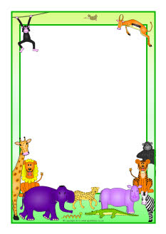 Rumble in the Jungle A4 page borders (SB7534) - SparkleBox