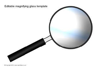 Editable magnifying glass templates (SB7760) - SparkleBox