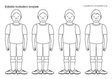 Editable Footballer Templates Sb7752 Sparklebox