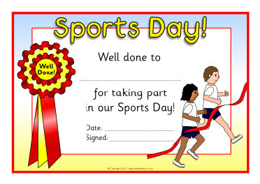 Sports day certificates sb8249 sparklebox for Sports day certificate templates free