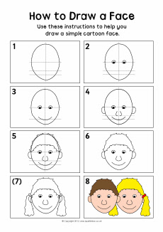 how to draw a portrait ks2