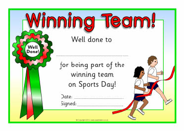 Sports day certificate templates free for Sports day certificate templates free