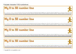 Fairytale characters 0-50 number lines (SB8428) - SparkleBox