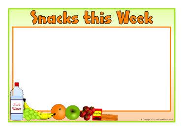 Editable snack menu templates - landscape (SB8615) - SparkleBox