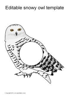 Editable snowy owl templates (SB8655) - SparkleBox