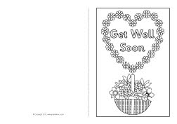 Get well soon coloring cards coloring pages for Get well soon card coloring pages