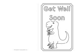 Get Well Soon card colouring templates (SB8890) - SparkleBox