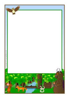 Gruffalo A4 Page Borders Sb9092 Sparklebox