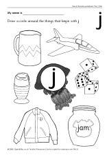 Letter 'j' worksheets (SB440) - SparkleBox