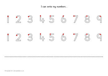 Number Formation Practise Sheets Sb485 Sparklebox