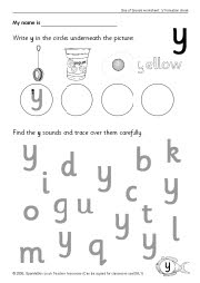 Letter 'y' worksheets (SB528) - SparkleBox