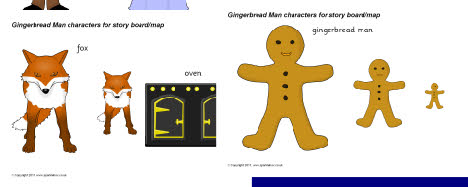 Gingerbread Man cut-out characters (SB974) - SparkleBox