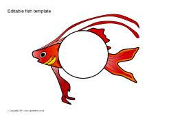 fish mouth template - editable fish templates sb5803 sparklebox