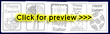 greetings cards colouring pages for early years and ks1
