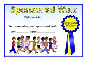 Printable school clubs certificates for primary ks1 ks2 for Walking certificate templates