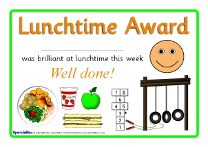 Printable Breaktime Amp Lunchtime Certificates For Primary