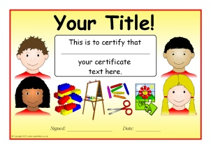 editable microsoft word templates for certificates with a general school theme