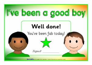 Primary school award certificates printables sparklebox view preview good boy and girl certificates yadclub Image collections