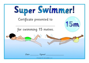Primary sports award certificates sparklebox swimming distance certificates sb5326 view preview yelopaper Gallery