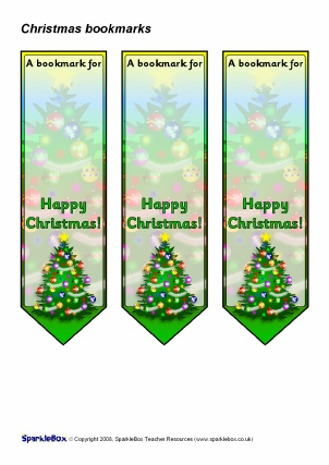 View Preview. Preview U0026 Download. Editable Christmas Bookmarks ...  Christmas Bookmark Templates