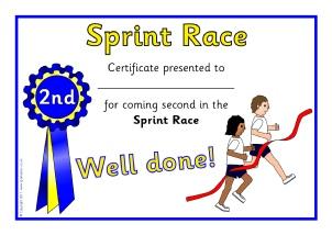primary sports award certificates sparklebox