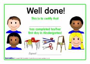 Printable starting school certificates for early years sparklebox view preview first dayweek certificates for kindergarten yelopaper Image collections