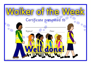 Printable walk to school certificates for primary ks1 for Walking certificate templates