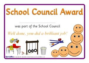 printable school council award certificates for primary ks1 ks2