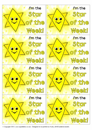 Primary School Star Of The Week Certificates And Awards Ks1 Ks2