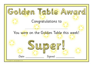 A Set Of Certificates To Present To Your U0027Golden Tableu0027 Each Week For Good  Behaviour.  Congratulations Certificates
