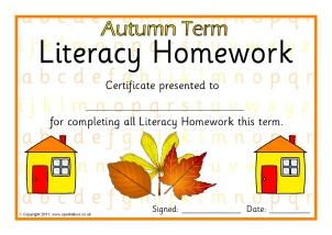 Printable homework certificates for primary ks1 ks2 sparklebox literacyenglish homework certificates termly sb5917 yadclub Choice Image
