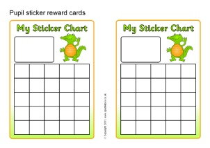 picture about Free Printable Sticker Chart referred to as Printable Principal College Sticker Charts - SparkleBox