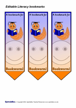 Printable award bookmarks for primary ks1 ks2 sparklebox for Bookworm bookmark template
