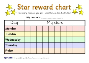 graphic relating to Star Reward Chart Printable titled Printable Principal University Sticker Charts - SparkleBox