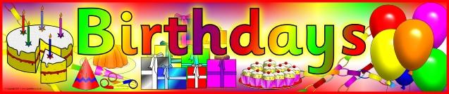 Birthdays Display Banner SB2489