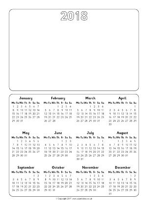 ปฏิทิน 2018 | Download 2019 Calendar Printable with ...