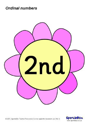 ordinal numbers on flowers 1st to 31st sb773 the ordinal numbers from ...