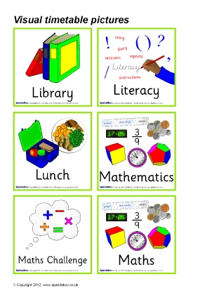 graphic regarding Printable Visual Schedule Pictures named Essential Visible Routine Clroom Demonstrate Components